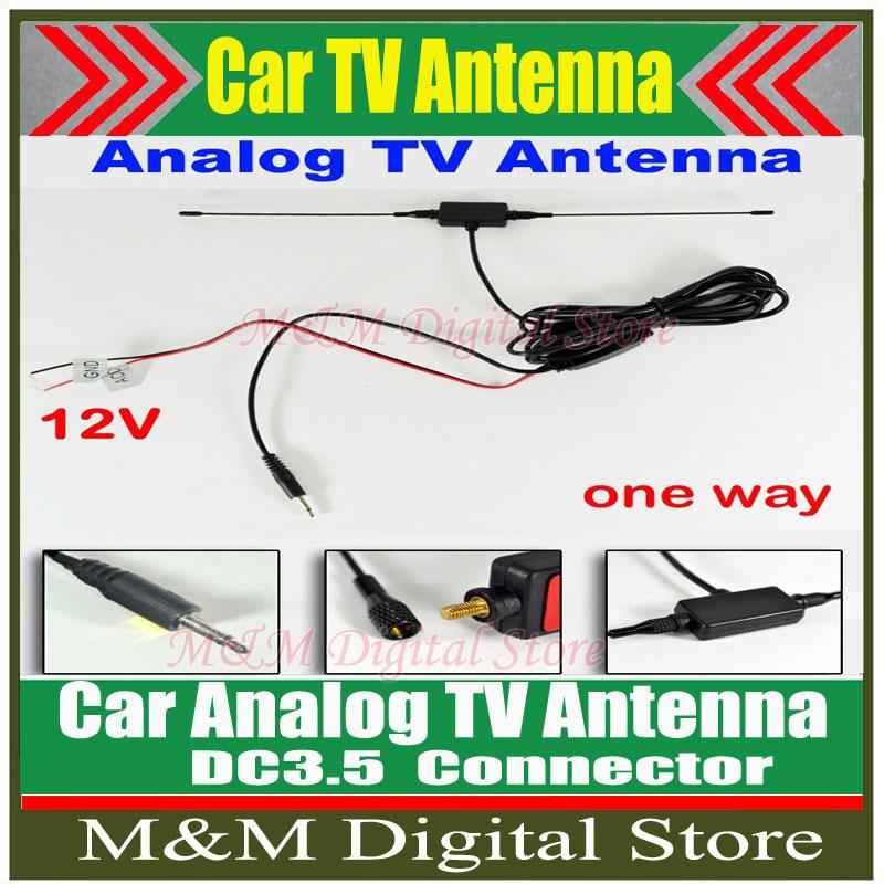 DC3.5 Connector Car analog TV antenna with built-in signal amplifier Car TV antenna Car Analog antenna Car Analog Antenna(China (Mainland))