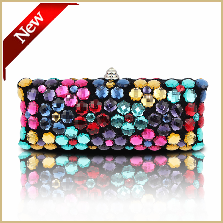 New Both Side Diamond Crystal Clutch Evening Bags Hot Stylish Day Clutches Rhinestone Lady Wedding Purse#6058(China (Mainland))
