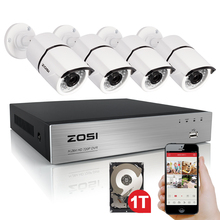 Buy ZOSI High 1080P HD Outdoor Security Camera System 1080P HDMI CCTV Video Surveillance 4CH DVR Kit 1TB HDD TVI Camera Set for $223.99 in AliExpress store