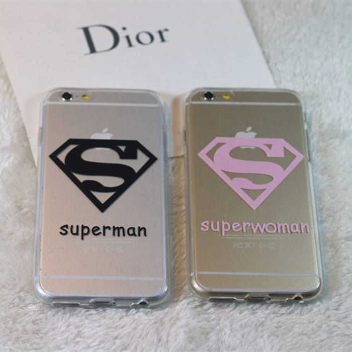 For for iphone 6 lovers phone case for the for apple 6plus protective case 5 5s soft silica gel phone case super man(China (Mainland))