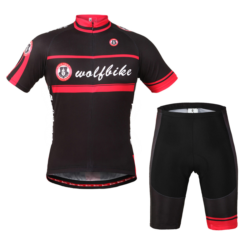WOLFBIKE Summer Cycling Clothing Bike Short Sleeve Jersey Bicycle Top Shirt Tights Wear Clothes ciclismo<br><br>Aliexpress