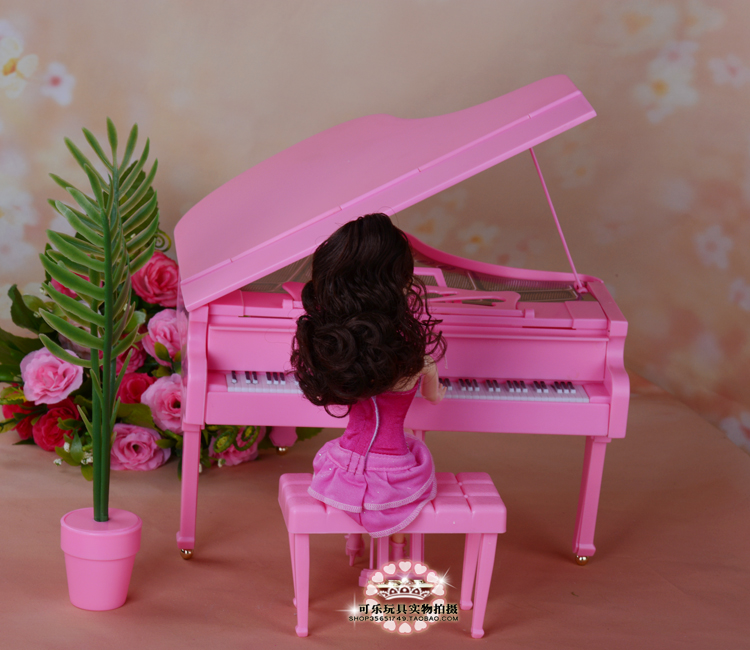 Miniature Furnishings Piano for Barbie Doll Home Faux Play Toys Finest Reward Toy for Woman