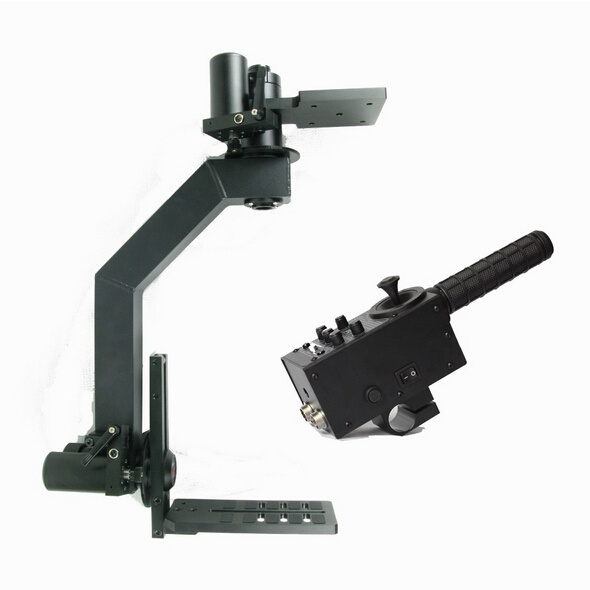 8 kgs loading MOVTECH PT-1 electronic mortorized pan and tilt head with remote joystick controller for video camera jib crane(China (Mainland))