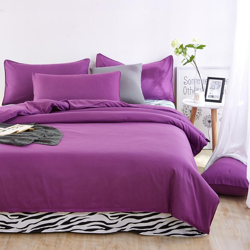 2016 Bedding Sets Zebra Bed Sheet and Purple Duver Quilt Cover Pillowcase Soft and Comfortable King Queen Full Twin Good Quality(China (Mainland))