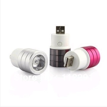 New Brand mini type USB torch 3 colors for daily use free shipping !