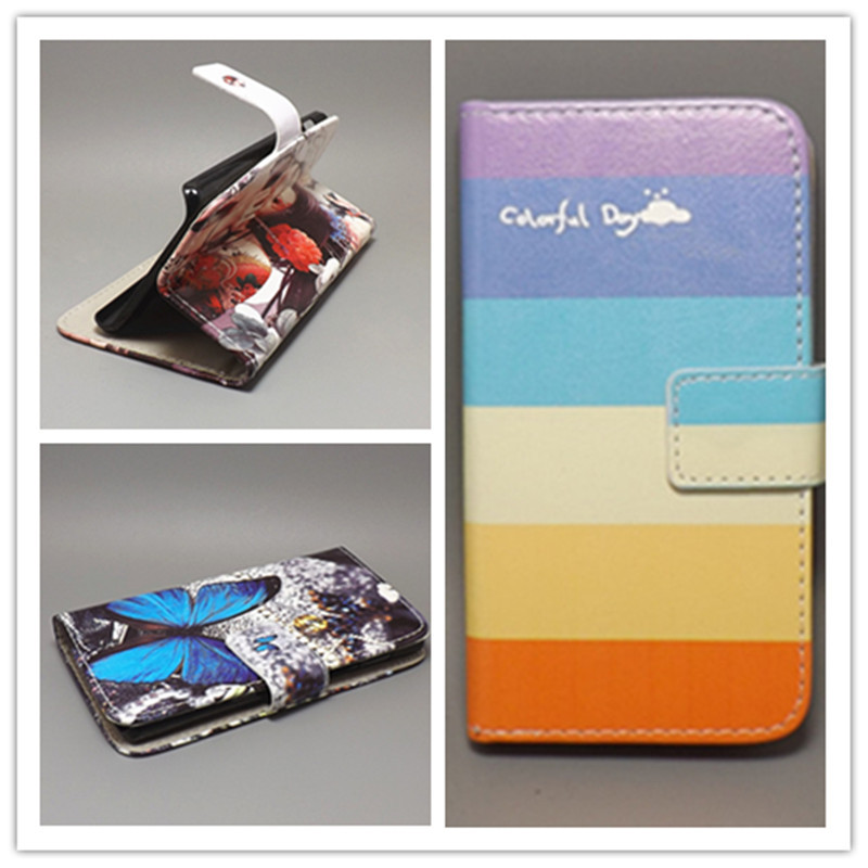 New Butterfly Flower Flag Designer Wallet Flip Stand Book cover Case for iphone 4 4s 4g free shpping(China (Mainland))
