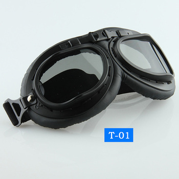 SD Adult Black Frame Motorcycle Mountain Bike Bicycle Goggle Outdoor Exercises Sports Protective Eyewear Anti UV T-01