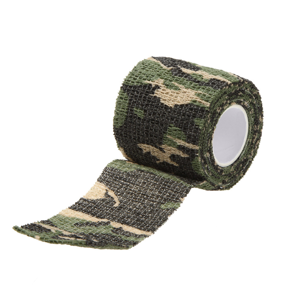 Stretchable Army Bandage Camouflage Tape Gun Rifle Stealth Wrap Desert Shooting Hunting Tactical Tapes 5CMx4 5M