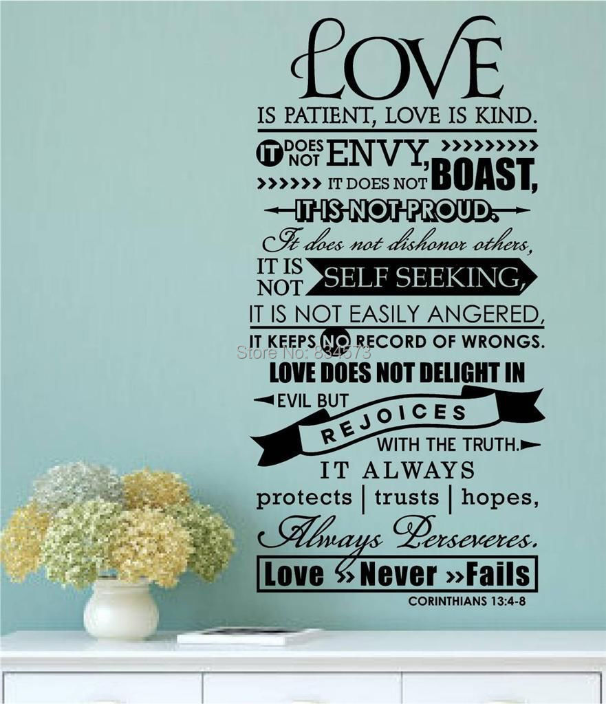 Buy bible verse love is patient kind for Bible verse decor