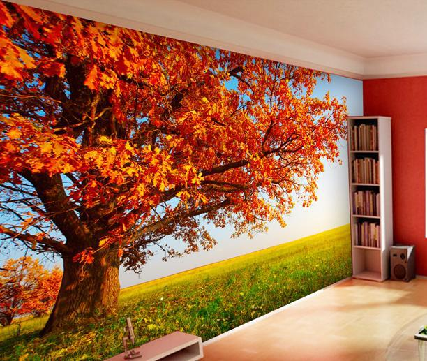 2014 sales of home decor wallpaper landscape style for Scenery wallpaper for bedroom