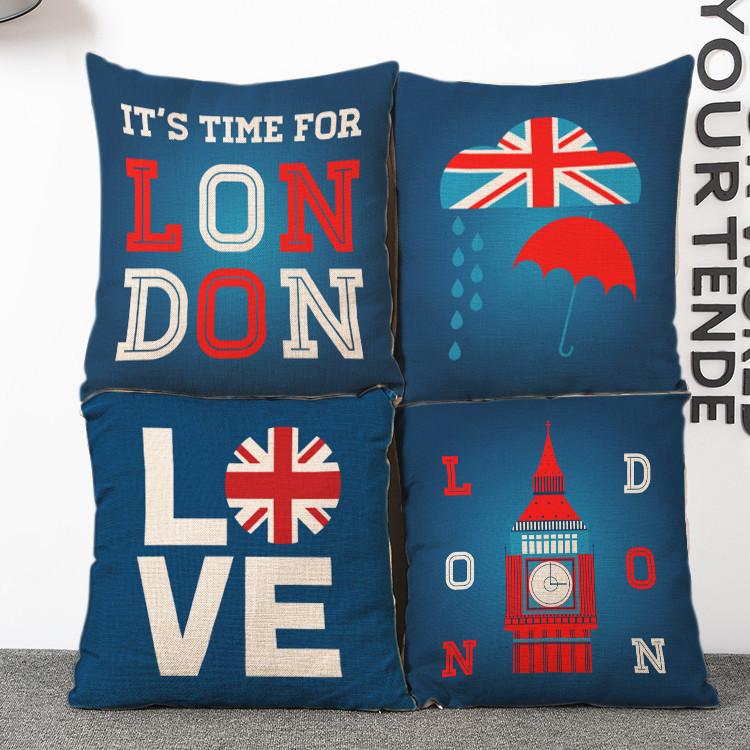 Retro Union Jack gentleman linen pillow cover cushion sleeping pad home cloth pillow cover(China (Mainland))