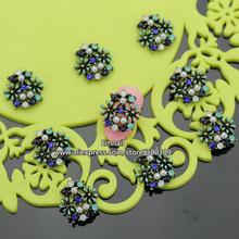 Rh581 сплава стразов 3d украшения блестит DIY накладные ногти , украшенные цветок 30 шт./лот 15 * 15 мм бесплатная доставка