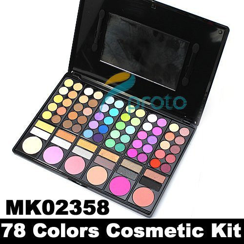 Freeshipping - 78 Colors Makeup Set Palettes Eye Shadow+Lip Gloss+Blusher Cosmetic Combo Palette P78-01 SKU:M0001
