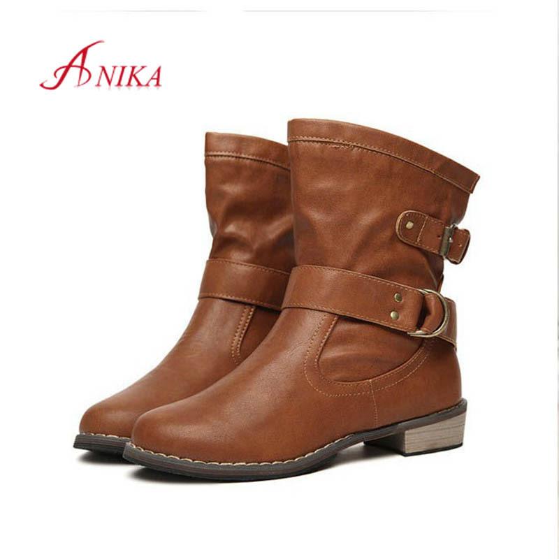 2014 new women motorcycle autumn winter martin leather boots botas femininas botas mujer botas femininas 0008