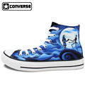 Men Women s Converse All Star Hand Painted Shoes The Nightmare Before Christmas Design High Top
