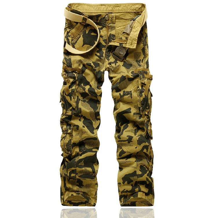Free shipping 2015 men camping military camouflage pants tactical multi-pocket trousers, outerwear pants trousers casual pants(China (Mainland))