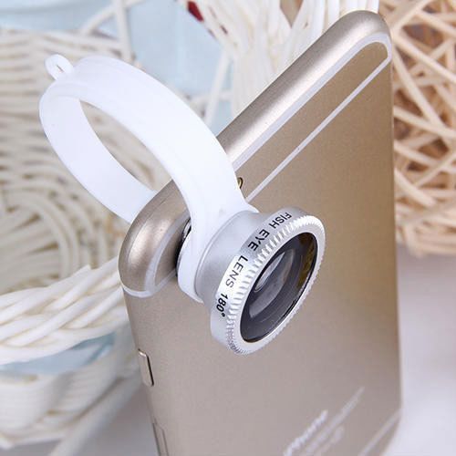 New Arrival Universal Fish Eye Lens 180 degree Mobile Phone Lens Camera Kit for Mobile Phone iPhone 6 Plus 5S Samsung S5