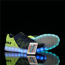 Remote Control Men lights up led luminous shoes low top glowing shinning shoes with new simulation sole charge for men adults(China (Mainland))