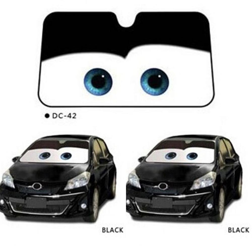 Bande dessin e pixar yeux avant auto voiture pare brise pare brise pare soleil pare soleil dans - Pare soleil voiture sur mesure ...