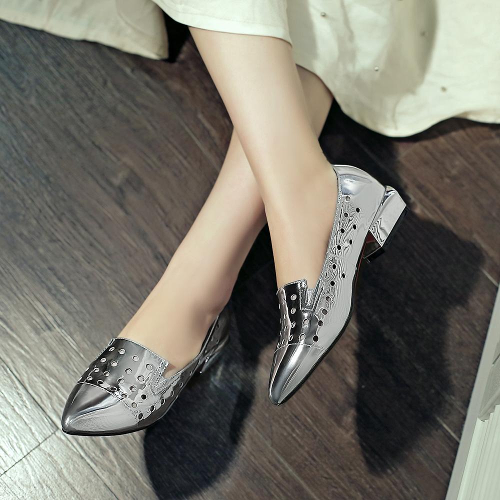 Silver Comfortable Heels - Is Heel