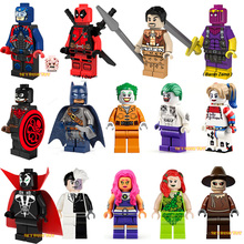 Single Sale Marvel Super Hero Minifigure Deadpool Suicide Joker Captain Panther X-men Building Blocks Toys(China (Mainland))