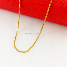wholesale 24K yellow gold chain 2.5mm60cm lattice single necklace MNE millipede golden warranty for 2 years do not fade (China (Mainland))