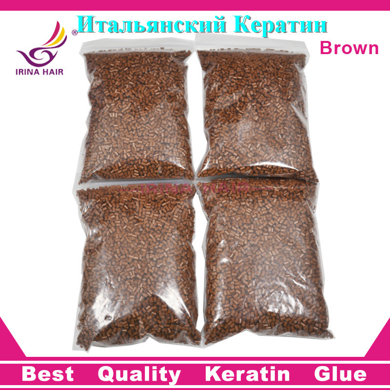 400 Gram/LOT Brown Color Italy Keratine Grain Fast FedEx Shipping Keratin Glue for Hair Extensions(China (Mainland))