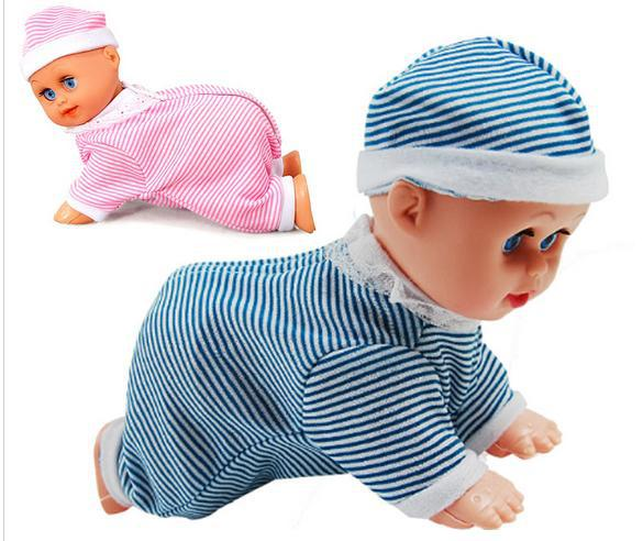 hot-selling Baby Kids Infant Electric Electronic Music Crawling Dolls Can Talking & Sing Song For Baby Girls Boys free shipping(China (Mainland))