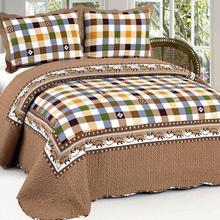 American Country Style 100% Cotton Quilted Bedspreads,3pcs Patchwork Quilt Set LLNh117 3pcs free shipping(China (Mainland))