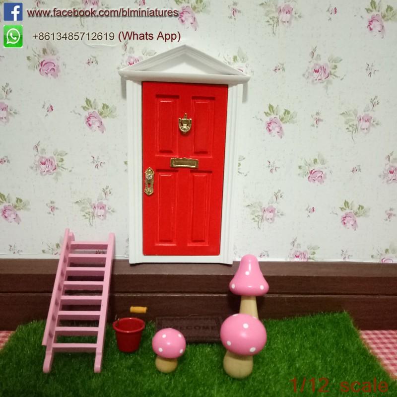 1 12 scale wooden tooth fairy door open outwards miniature for Wooden fairy doors that open
