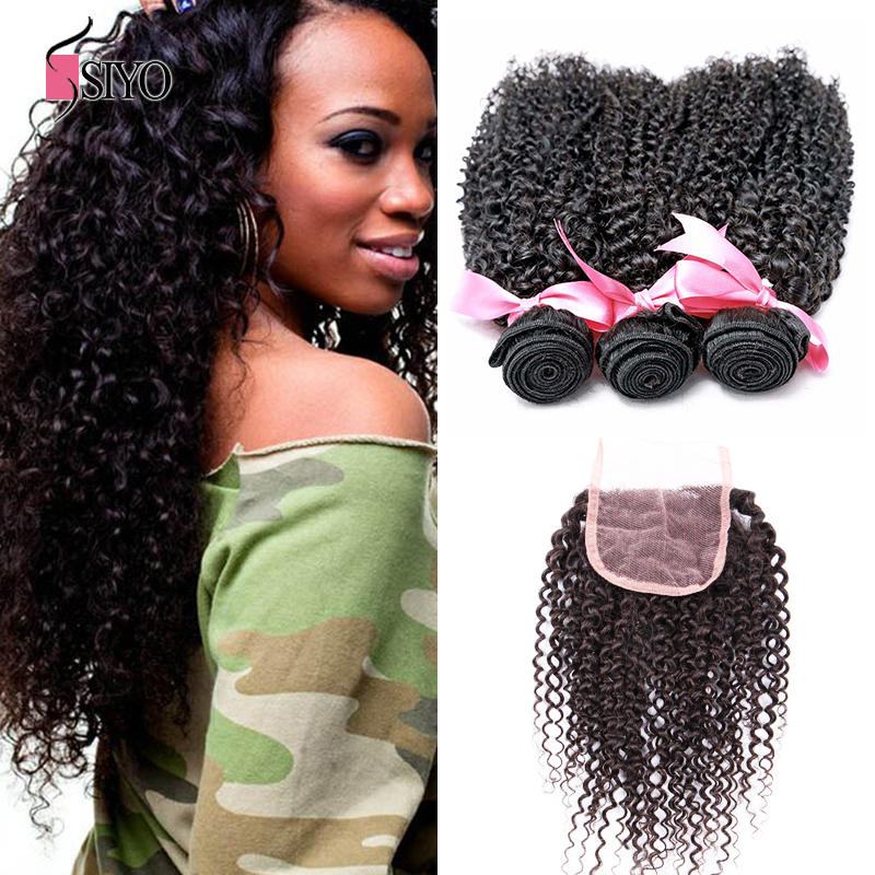 7a unprocessed virgin mongolian kinky curly hair with closure 4x4mongolian kinky curly closure 3 bundles with closure curly hair<br><br>Aliexpress
