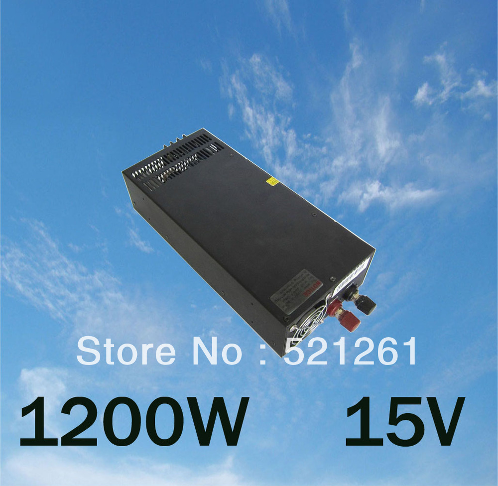 mean well power suply 15v 1200w ac to dc power supply ac dc converter  high quality<br><br>Aliexpress