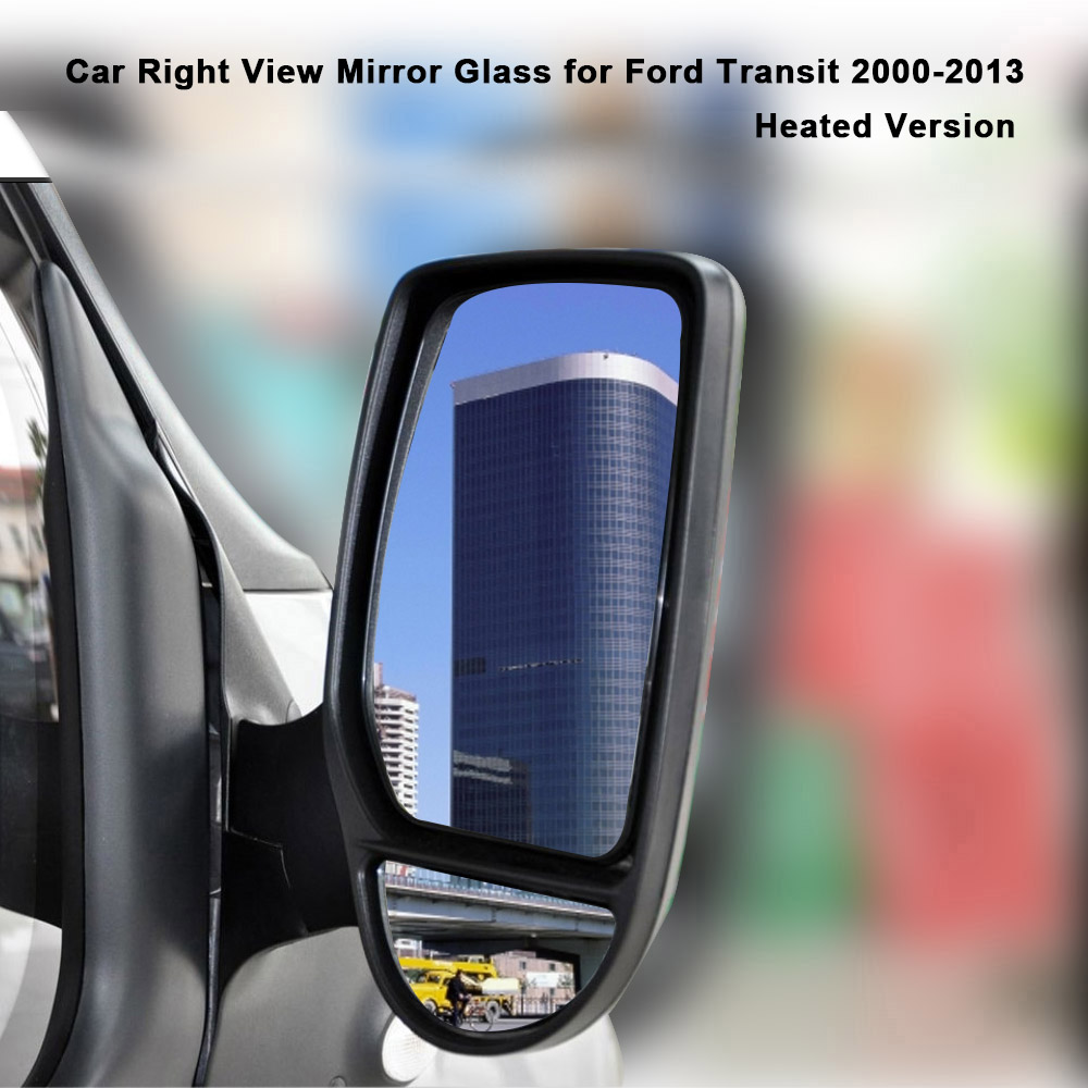 Wide Angle Wing Door Mirror Car Right Drive Side Heated Mirror Glass for Ford Transit 2000-2013(China (Mainland))