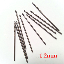 10 Pcs 1.2mm Micro HSS Straight Shank High Speed Steel Mini Twist Drill Bits Electric Drill  Power Tools