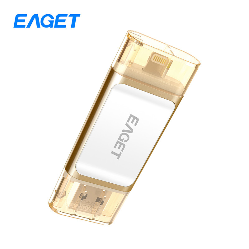Eaget i60 OTG USB 3.0 100% 128GB Flash Drives Pen Drive Memory Stick For iOS PC Tablet Pendrive U Disk For iPhone Pass H2testw
