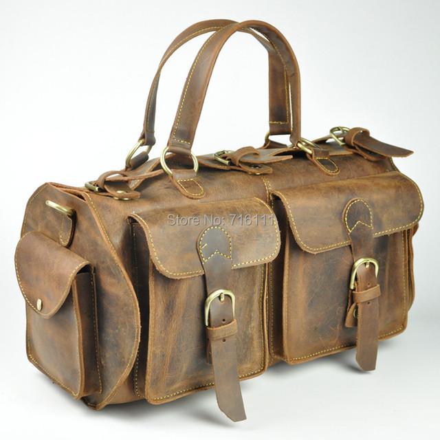Мужские путешествие сумки, Багаж, Сумка, Handbas, Натуральная кожа, Воловья кожа, ...