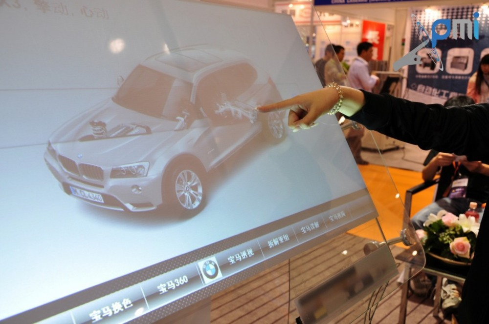 37 multi Interactive Dual touch screen foil through glass,Flexible, could be applied to curve surface touch 4:3 format<br><br>Aliexpress