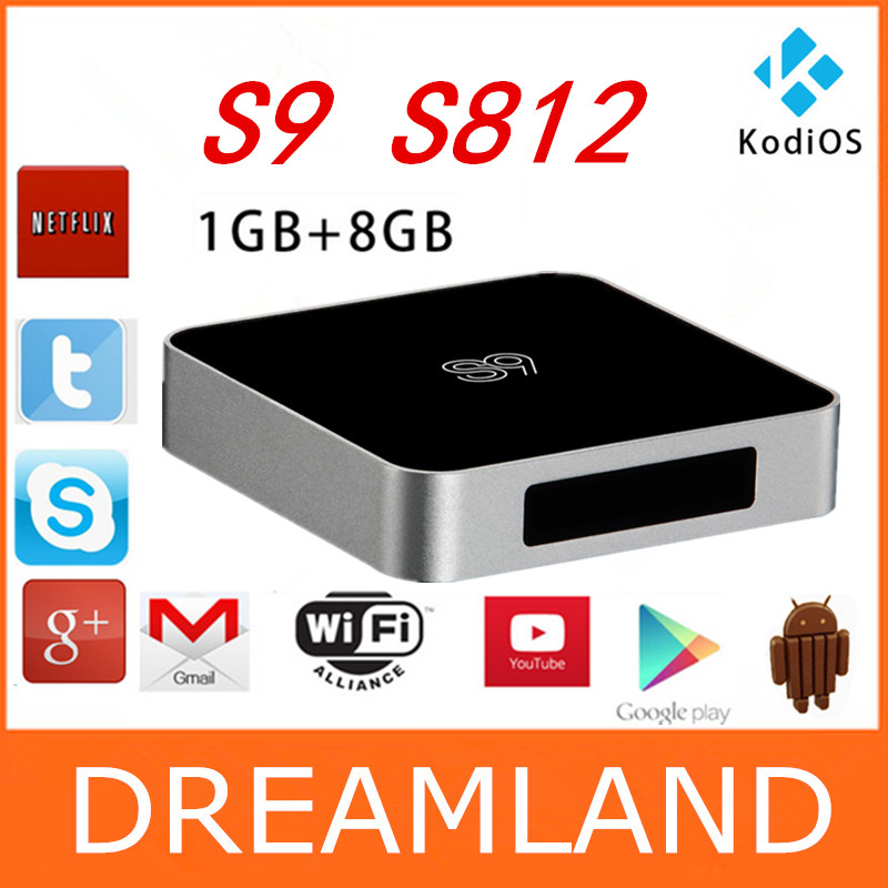 1pcs Amlogic S812 Android Smart TV Box Android 4.4 1G/8G Wifi Bluetooth Quad Core Fully Loaded KODI XBMC 1080P HDMI 4K <br><br>Aliexpress
