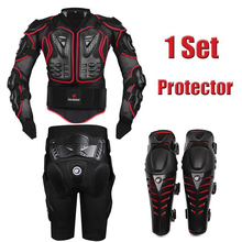 HEROBIKER Red Motorcycle Body Armor Motocross Armour Motorcycle Jackets+ Gears Short Pants+protective Motocycle Knee Pad(China (Mainland))