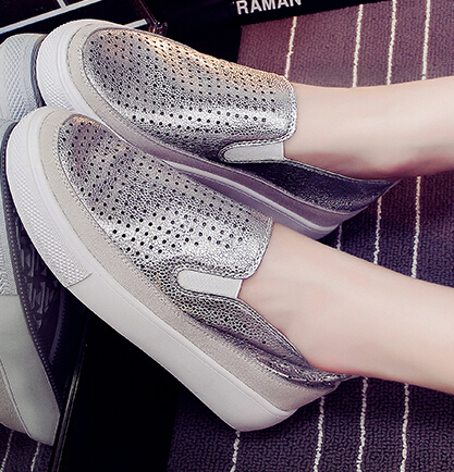 2015 Spring Summer Casual Soft Leather Shoes Platform Women Flats Round Toe Ladies Slip On Moccasins Driving Pregnant Loafers<br><br>Aliexpress