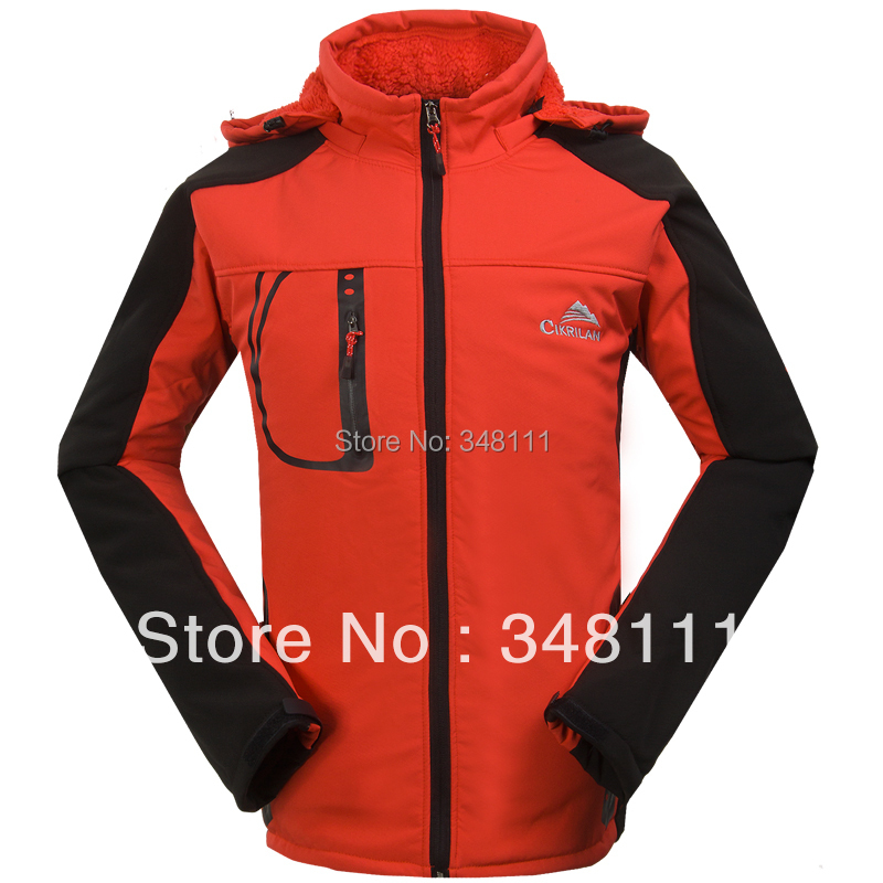 +China Post Air Mail Guaranteed% Authentic men's soft shell fleece jacket warm leisure mountaineering ski trips - Integrity of outdoor shop store