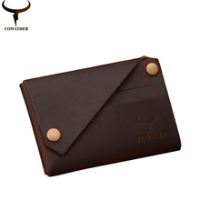 COWATHER New arrival Credit Card holder Crazy horse leather wallet men cow genuine leather good cards holders 126 free shipping(China (Mainland))