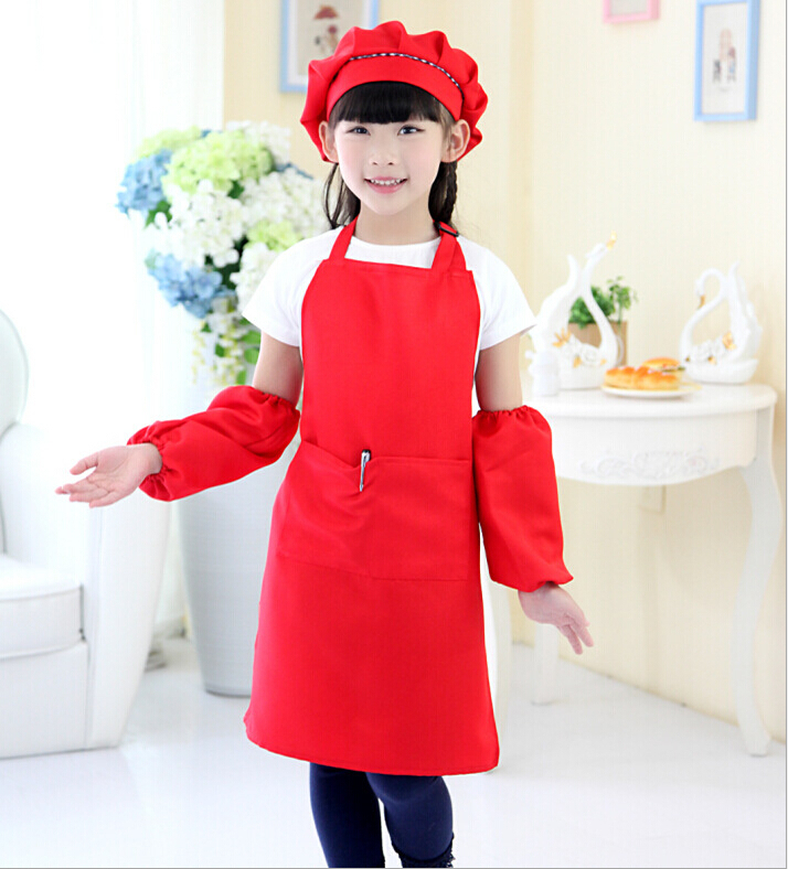 Cute Kids aprons Fashion girl boy painting apron Adjustable strap kitchen cooking apron, we offer printing logo services(China (Mainland))