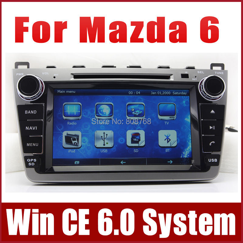Car DVD Player for Mazda 6 Mazda6 Ruiyi 2008-2012 with GPS Navigation Radio TV BT USB SD AUX Map iPod Auto Audio Video Stereo(China (Mainland))
