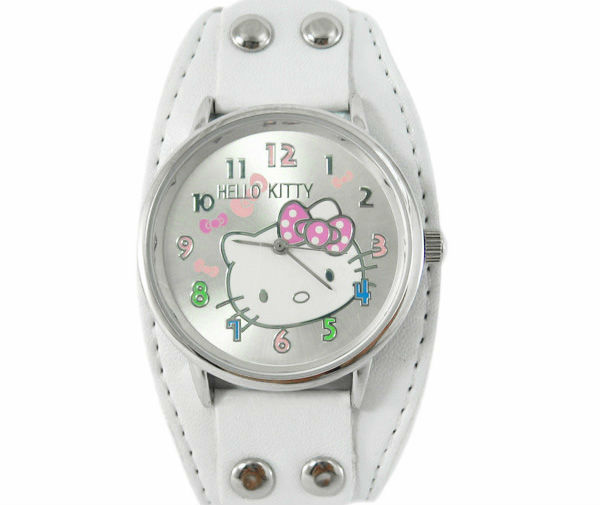 1PCS New Hello Kitty Wrist watch For Kid Children Girl Lady hello kitty Quartz watches PU Leather Watch Gif W332W Free Shipping