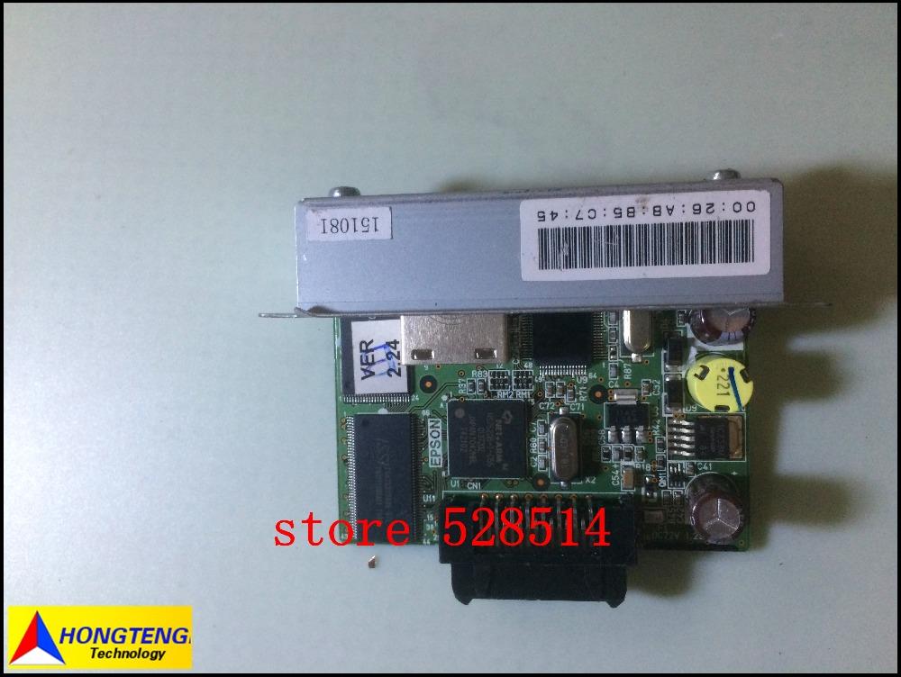 original FOR EPSON POS receipt printer RJ45 Network adapter M155B UB- E02 T88IV M129H Full test ok(China (Mainland))