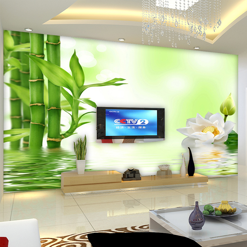 Art customized large 3d three dimensional mural wallpaper for Bamboo mural wallpaper