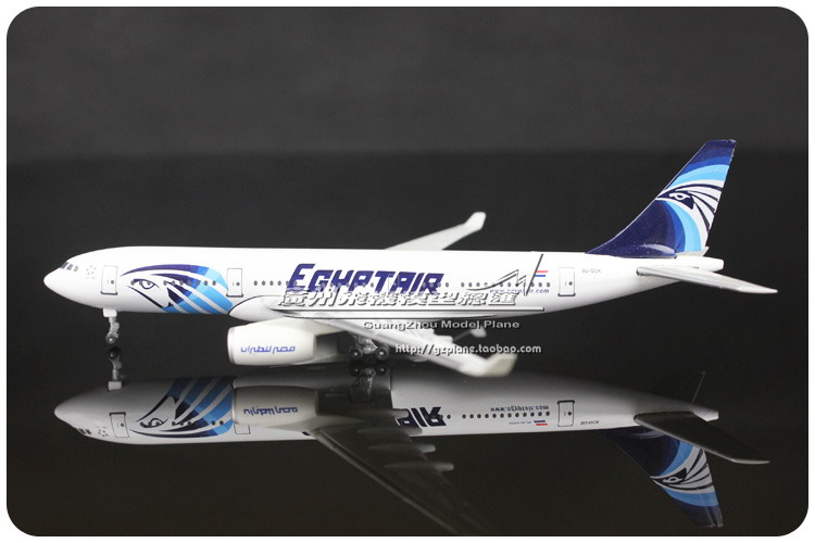 1:400 EGYPTAIR Airlines Airbus A330 200 SU-GCK Alloy Plane Model Airways Airplane Model Souvenir Collections Free Shipping(China (Mainland))