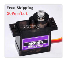 Free Shipping 20P SG90 9G Servo Upgraded Metal gear Digital Servos MG90S Mini Micro Servo Motor RC Robot Helicopter for Arduino