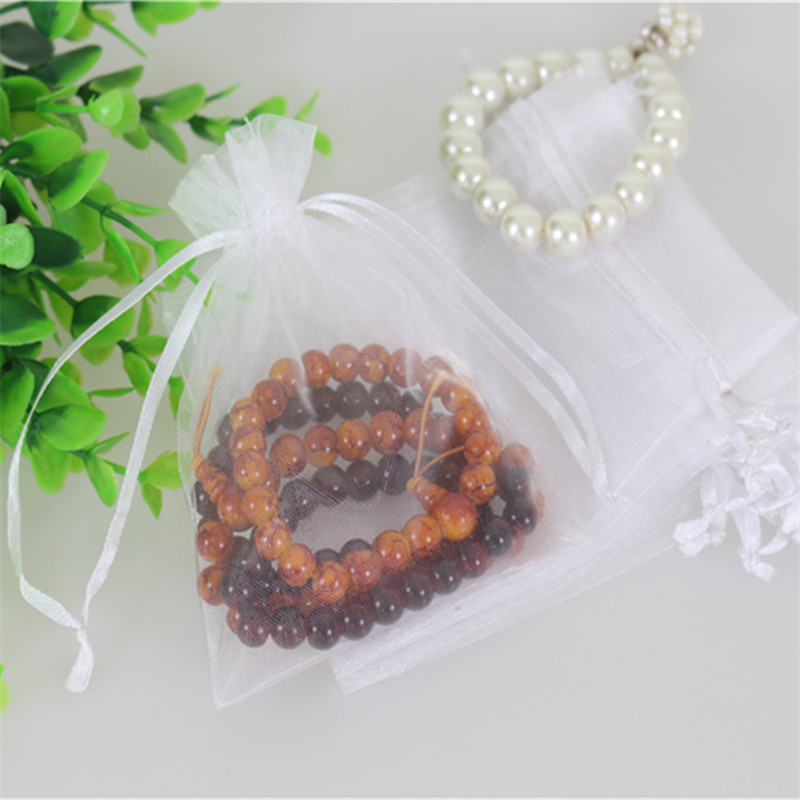 Wholesale 100pcs/lot 13*18cm White Jewelry Organza Gift Bags Can Be Customized Drawstring Chirstmas Organza Bags(China (Mainland))